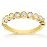 Round-Cut Diamond Wedding Band 1/2 carat (ctw) in 14k Yellow Gold_9.0